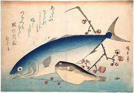 Woodblock print fish