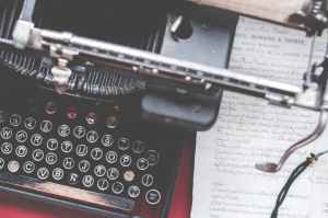 close up photo of black typewriter