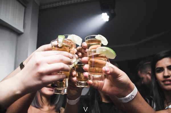 photo of people doing cheers