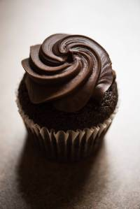 close up photo of chocolate cupcake